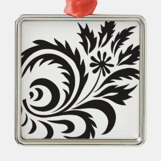 nature, abstract, trees, foliage , grung, daisy Silver-Colored square ornament