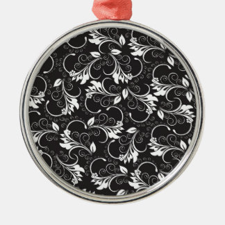 nature, abstract, trees, foliage , grung Silver-Colored round ornament