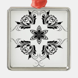 nature, abstract, trees, foliage , grung Silver-Colored square ornament