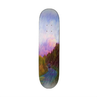 Nature and car skateboard