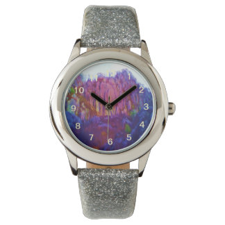 Nature and mountain wristwatch