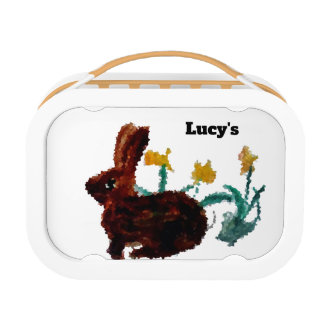 Nature Art Daffodils and a Rabbit Lunch Box