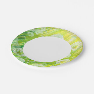Nature background 2 7 inch paper plate