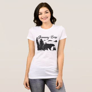 Nature Bear Pines Silhouette Grammy Bear Shirt