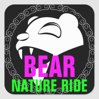 Nature Bear Square Sticker
