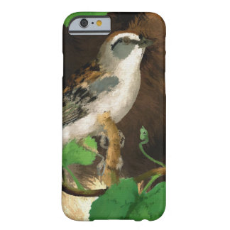 Nature Bird Sparrow Abstract Art, iPhone 6/6s Barely There iPhone 6 Case