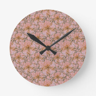 Nature Collage Print Round Clock