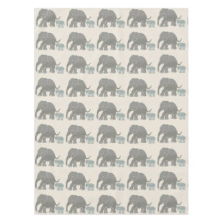 Nature Colors Cute Elephant with Baby Pattern Tablecloth