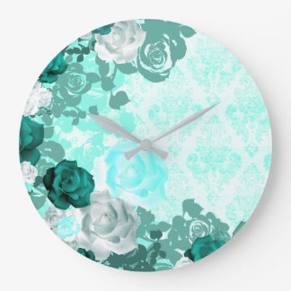 Nature Damasked Collection Large Clock