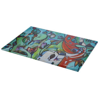 Nature Decorative Glass Cutting Board