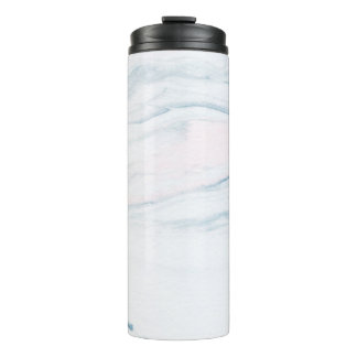 Nature Decorative Gray And Blue Marble Stone Thermal Tumbler