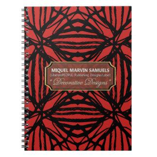 Nature Decorative Red Black Modern Notebook