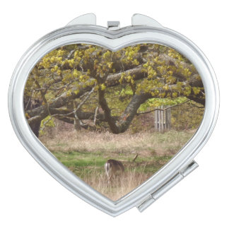Nature & Deer Heart Compact Mirror
