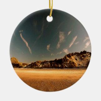 Nature Desert Sea Of Sand Round Ceramic Ornament