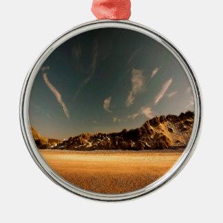Nature Desert Sea Of Sand Silver-Colored Round Ornament