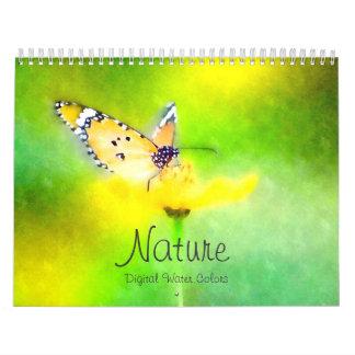 Nature Digital Watercolors Calendar
