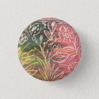 Nature Doodle Oil Pastel Pin Button