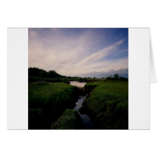 Nature Dusk Clear Night Water Card