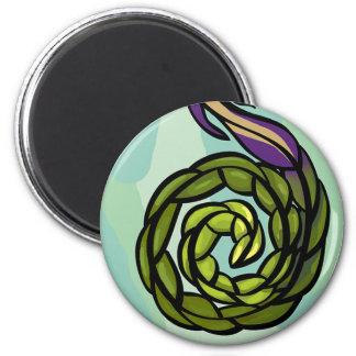 nature fantasy round magnet 1