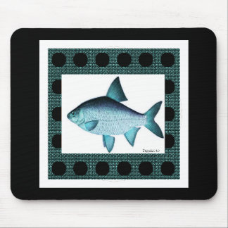 Nature-Fish_Surreal(c) Unisex_Blue Mouse Pad
