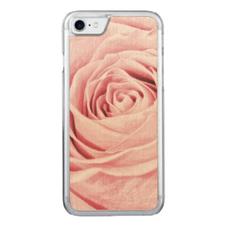 Nature Floral Photo Dainty Girly Pink Rose Carved iPhone 7 Case