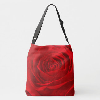 Nature/Floral Photography Abstract Red Rose Pic Crossbody Bag