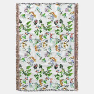 Nature flowers birds paradise Blanket