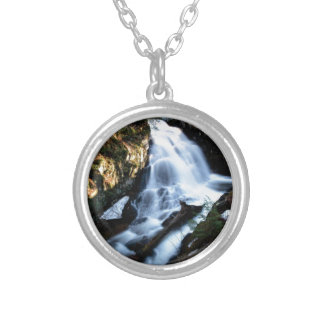nature flows of water silver plated necklace