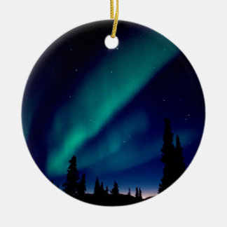 Nature Forces Aurora Borealis Alaska Ceramic Ornament