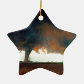 Nature Forces Twister Fargo North Dakota Ceramic Star Ornament