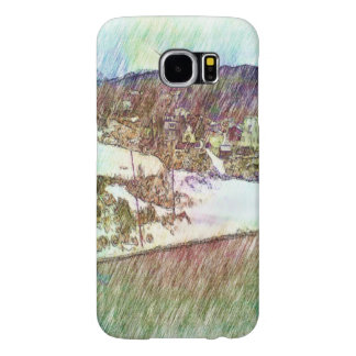 Nature forest and houses samsung galaxy s6 cases