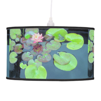Nature - Frog on a Lily Pad Pendant Lamps