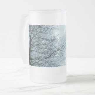 Nature Frosted 16 oz Frosted Glass Mug
