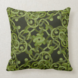 Nature Garden Ivy Vines Green Living Decor Throw Pillow