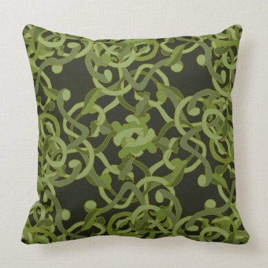 Nature Garden Ivy Vines Green Living Decor Throw Pillow