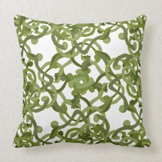 Nature Garden Ivy Vines Green Living Forest Decor Throw Pillow
