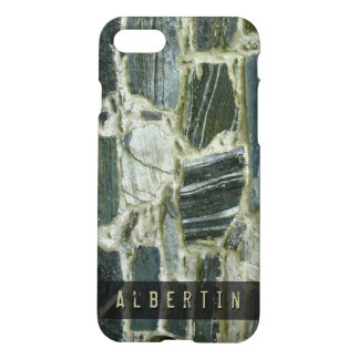 Nature Geology Stone Wall Structure Custom Name iPhone 7 Case