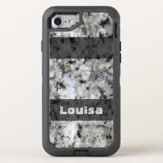 Nature Geology White Rock Texture any Text OtterBox Defender iPhone 7 Case