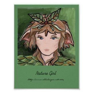 Nature Girl Card Poster
