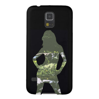 Nature Girl Silhouette Galaxy S5 Covers