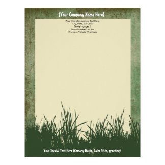 Nature Grass Tree Custom Letterhead