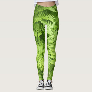 Nature Green Fern Leggings