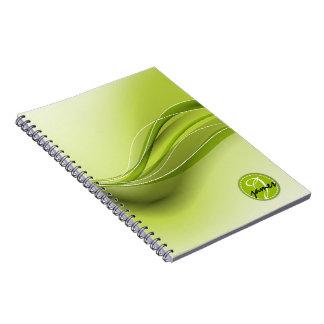 Nature Green Modern Waves Monogram Notebooks