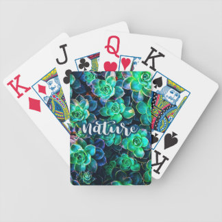 Nature Green Succulent Photo Bicycle Playing Cards