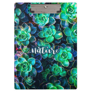 Nature Green Succulent Photo Clipboard