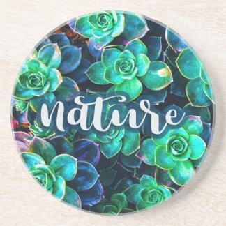 Nature Green Succulent Photo Coaster