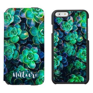 Nature Green Succulent Photo Incipio Watson™ iPhone 6 Wallet Case