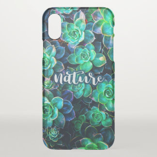 Nature Green Succulent Photo iPhone X Case