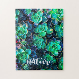 Nature Green Succulent Photo Jigsaw Puzzle