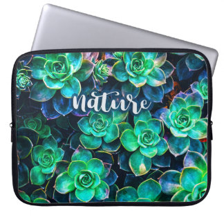 Nature Green Succulent Photo Laptop Sleeve
